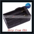 Free Shipping + Wholesale 10pcs/lot 18650 Battery Charger (110V~240V) Black Ship from USA-E03232