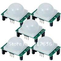 Wholesale price shipping,NEW Adjust Infrared IR PIR Motion Sensor Detector Body Module Security Motion HC-SR501