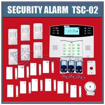 2pcs 106 zones Alarm,GSM alarm system,security alarm  LCD display Vioce prompt Auto Dialer TCS-02