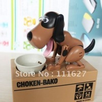 Free shipping Automated dog steal coin piggy bank,kitty saving money box,coin bank,money bank, kids gift,novelty toys, Ll-01-091