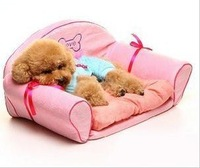 Free Shipping Wholsale Pet Dog Cat Bed/ sofa 60 x 36 x 30CM (Pink Green Flower Black)