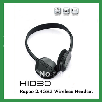 Free Shipping Rapoo H1030  2.4GH Wireless Headset Rechargeable Battery wireless headphone