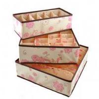 Free shipping BF050 3pcs/set foldable box  for bra underwear necktie socks storage box