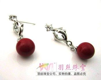 209 Fashion Jewelry Coralito Freshwater Pearls pendant Earrings  Drop Earring for women Beautiful Decoration Diamond