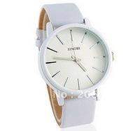 latest style SINOBI 9213 Round Dial Men's Quartz Watch with PU Leather Strap (Black.white).free shipping