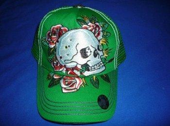Skull hat personalized , hip-hop flat-panel baseball cap, fashionable flat-panel cap, street