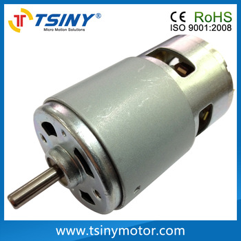 High-torque 775 12v 24v electric dc  brushed reversible 10000rpm high speed dc motor for diy driver parts. Free shipping