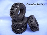 Rubber crawler tire tyre set for 1.9 wheel 1/10 rc rock crawler car buddies -4pcs