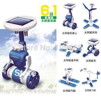Free shipping Fashion Solar Robots,6 In 1 Educational DIY Solar Kits,Solar Toys,Christmas Gifts Wholesale CY-01-045