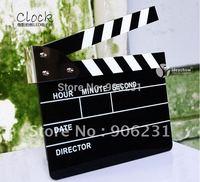 Free Shipping!!New Movie Film Slate Clapper Director Action Board LED Digital Alarm Clock