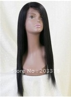Custom 18 Lace front wig Super Cheap High Quality Long Yaki Straight Black Wigs
