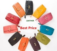 Free shipping NEW dumpling shape 100%Genuine leather evening bag,clutch/wristlet bag coin bag w/ strap