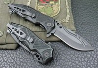 Columbia Black Lock Stainless Steel Saber Tactical Folding Knife (K34)