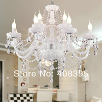 Free shipping White Crystal Chandelier with 12 Lights Pendant Lights Ceiling Lights for 2013 new