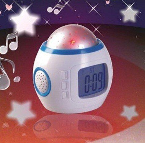Baby Room Sky Stars Night Lights Projection Lamp Bedroom Music Alarm Clock(China (Mainland))