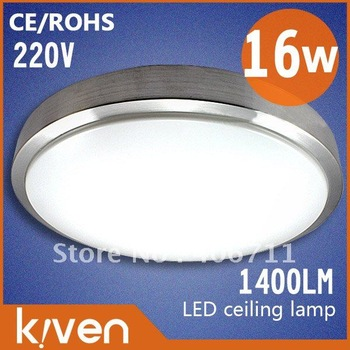 Free shipping!! 16w led ceiling light,AC 220V,1200--1400lm, cool white/warm white,  3528 lamp beads ,ceiling lamp,2yrs warranty