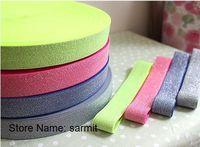 3071003 - 3cm Width 30 Yds./lot Mixed Colors Bright Elastic Strap Elastic Rubber Band Belt Cummerbund Free Shipping Waist Band