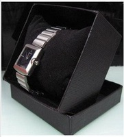 Free shipping 30PCS NEW Paper Watch Box Wrist Gift Packing Box with Pillow Black