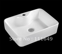 7436 Bathroom Ceramic  Counter top Rectangular Wash hand Sink basin lavatory lavabo bathroom cabinet basin