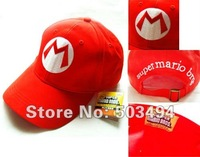 Super Mario Bros Cosplay Baseball M Hat Mario Red Cap 5 colors Base ball cap