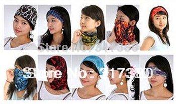 Wholesale NEW Fashion Men Sports Headband Scarf Mens Neck Ring Scarves Women Spring Hood Bandana Face Masks Balaclavas Scarfs