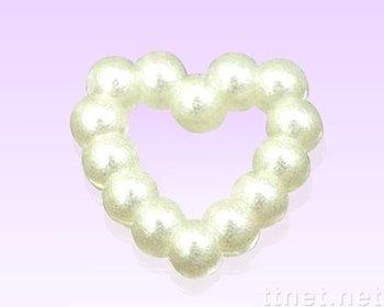 3mm ABS Heart  Pearls Flatback Jewelry Garment Accessory Beads Scrapbooking Diy