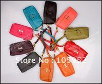 Free shipping NEW dumpling shape GENUINE LEATHER evening bag,clutch/wristlet bag/ wallets,purse gift