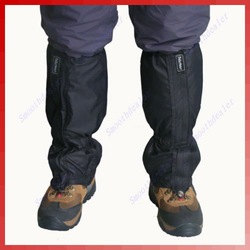 1 Pair Waterproof Outdoor Hiking Walking Climbing Hunting Snow Legging Gaiters Black(China (Mainland))