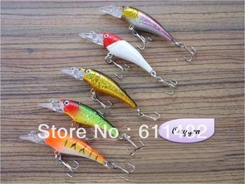 Fishling Crankbaits Lures Lurer Minnow Baits Hook 5PCS/lot 60mm 5g free shipping new