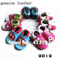 promotion ree shipping wholesale  genuine leather soft sole baby shoes infant sandals Guaranteed 100% genuine leather