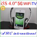 4 inches  I5 5g 5sTV touch screen WIFI Hungarian turkce pycckn Language unlocked phone mobile Phone cheapest promotion cellphone