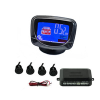 Drop Shipping LCD Display Reverse Kit 4 Car Parking Sensors system Backup Radar Black 1546