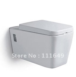 9615 Sanitary ware Bathroom Ceramic Rectangular Wall Hung Toilet/ Water Closet/W.C.(China (Mainland))