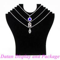 Wholesale 4 Black Velvet Necklace Display Stand Holder Board For 6 Pcs