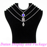 Wholesale 4 Black Velvet Necklace Display Stand Holder Board For 6 Pcs