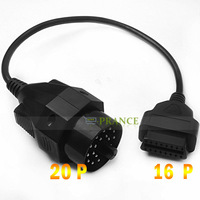 20 Pin to 16 Pin  OBD 2 Diagnostic Adapter Cable for BMW    Free Shipping