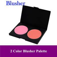 Free Shipping! Pro 2 Color makeup face blush Cheek Blusher powder Palette 2P-02# Dropshipping! Big discount!