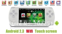 New 4.3inch 4GB Touch screen Android 2.3 Game Player MP4 MP5 Player game console With Wifi+camera+TV out+HDMI free