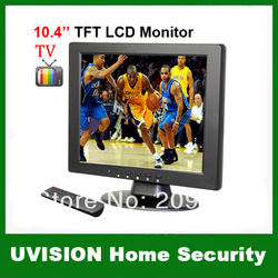 10.4 inch TFT LCD 4:3 screen VGA/AV/ input monitor with TV,1CH Video input ,2Ch Audio input free shipping(China (Mainland))