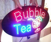HOT SELLING LED BUBBLE TEA SIGN,LED SIGN, FREE SHIPPING 3PCS