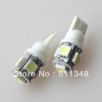 free shipping wholesale 100pcs car  LED Lamp  T10 W5W 194 5050 SMD 5 LED White Light Bulbs