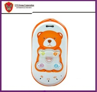 China Post Free Shipping, 3pcs/lot, Bear mould 2-way talking Phone for Kid / child / Elder GPS tracker with SOS Button GPS-PT301