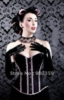 3sets/lot  Fashion lady sexy Corset ladies bustier Lingerie women's underwear black SIZE S M L XL  free shipping