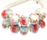 Min.order is $10( mix order )T24 FREE SHIPPING 5pcs Ceramics European Beads Fits Charm Bracelet