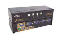 4 Port USB & PS/2 Combo KVM Switch  Auto with 4pcs cables CKL-84UP