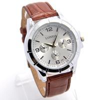New Arrive Wholesale High Quality Leather Strap Watch Men Fashion Sports Quartz Wrist Analog Watch londa-23