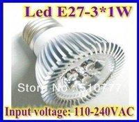 free shipping 3W E27/E14/GU10/MR16 LED Spot Light hot sale led light