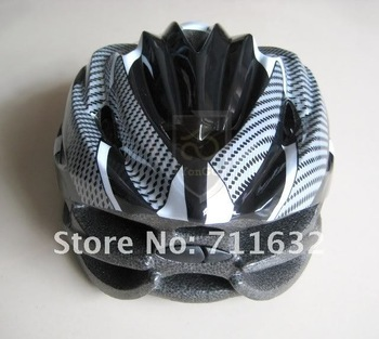 NEW Cycling Bicycle Bike Adult Mens Womens Helmet Black/White With Visor