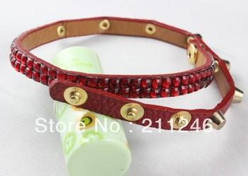Free shipping 2012 Newest  Leather Bracelets Jewelry Hot Wholesale Retro fashion female multilayer personality leather bracelet
