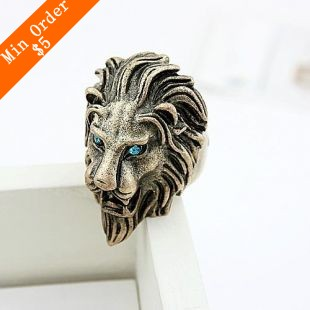 2014 New Fashion Hot Selling Fashion Jewelry Hot Lion Head Ring Hot Love Ring Hot  (Bronze)  R60